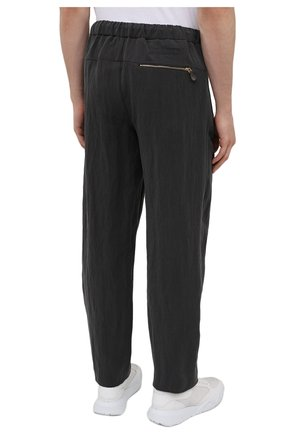 Мужские брюки GIORGIO ARMANI темно-серого цвета, арт. 1WGPP0JA/T02P0 | Фото 4