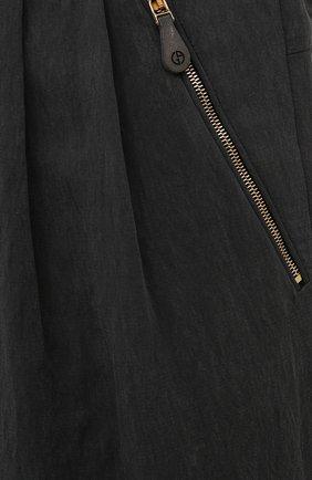 Мужские брюки GIORGIO ARMANI темно-серого цвета, арт. 1WGPP0JA/T02P0 | Фото 5