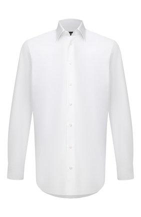 Мужская хлопковая сорочка GIORGIO ARMANI белого цвета, арт. 1WGCCZ70/TZ065 | Фото 1