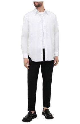 Мужская хлопковая сорочка GIORGIO ARMANI белого цвета, арт. 1WGCCZ70/TZ065 | Фото 2