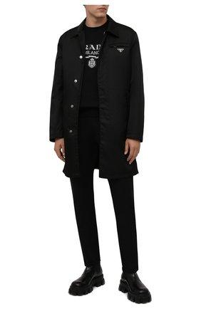 Мужской хлопковый свитшот PRADA черного цвета, арт. UJL148-1Y13-F0967-202 | Фото 2