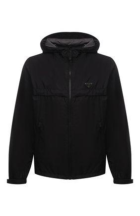 Мужская куртка PRADA черного цвета, арт. SGB460-1WQ9-F0N5A-202 | Фото 1 (Материал внешний: Синтетический материал; Кросс-КТ: Ветровка, Куртка; Длина (верхняя одежда): Короткие; Рукава: Длинные; Стили: Кэжуэл)