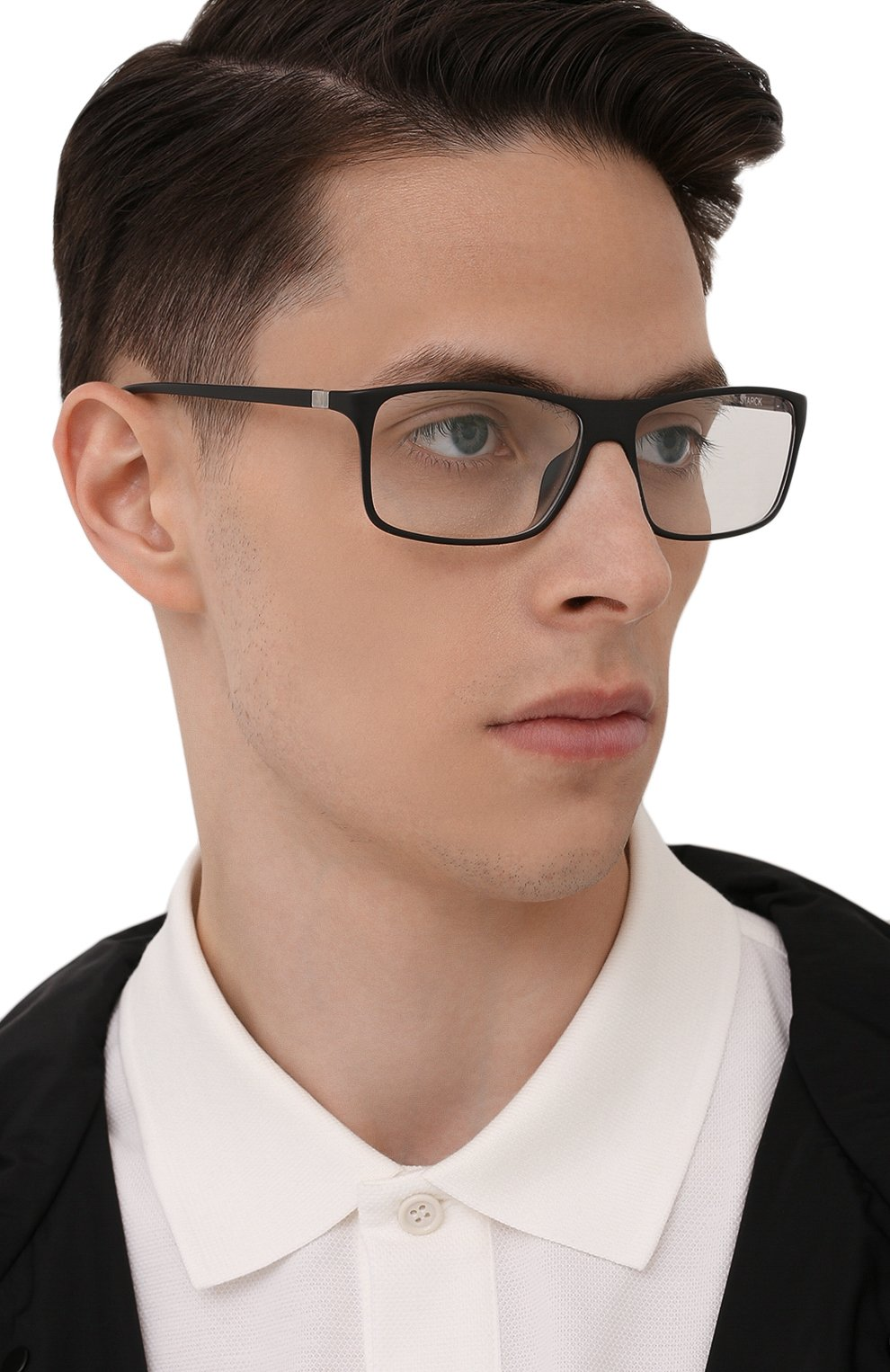 Мужские оправа STARCK EYES черного цвета, арт. 1043X-0032 | Фото 2 (Тип очков: Оправа; Очки форма: Прямоугольные; Оптика Гендер: оптика-мужское)