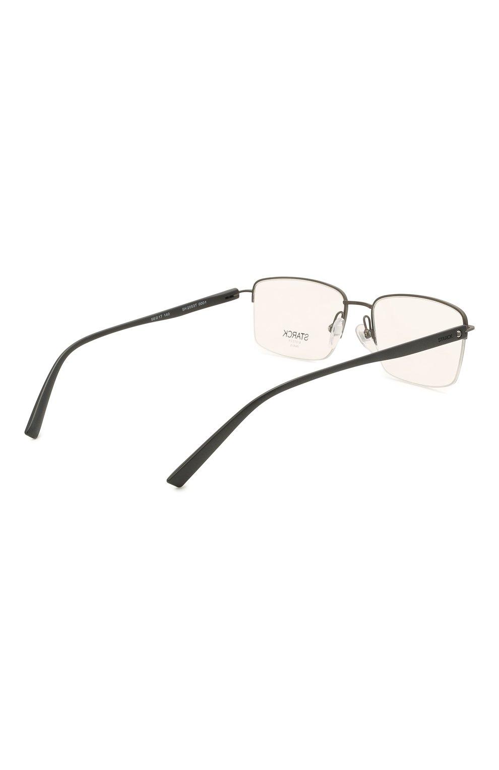 Мужские оправа STARCK EYES черного цвета, арт. 2053T-0001   Фото 4 (Тип очков: Оправа; Очки форма: Прямоугольные; Оптика Гендер: оптика-мужское)