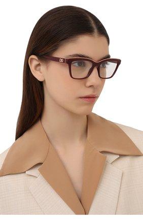 Женские оправа DOLCE & GABBANA бордового цвета, арт. 5064-3285 | Фото 2 (Тип очков: Оправа; Оптика Гендер: оптика-женское; Очки форма: Прямоугольные)