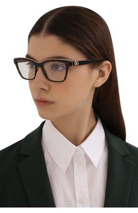 Женские оправа DOLCE & GABBANA коричневого цвета, арт. 5064-502 | Фото 2 (Тип очков: Оправа; Очки форма: Прямоугольные; Оптика Гендер: оптика-женское)
