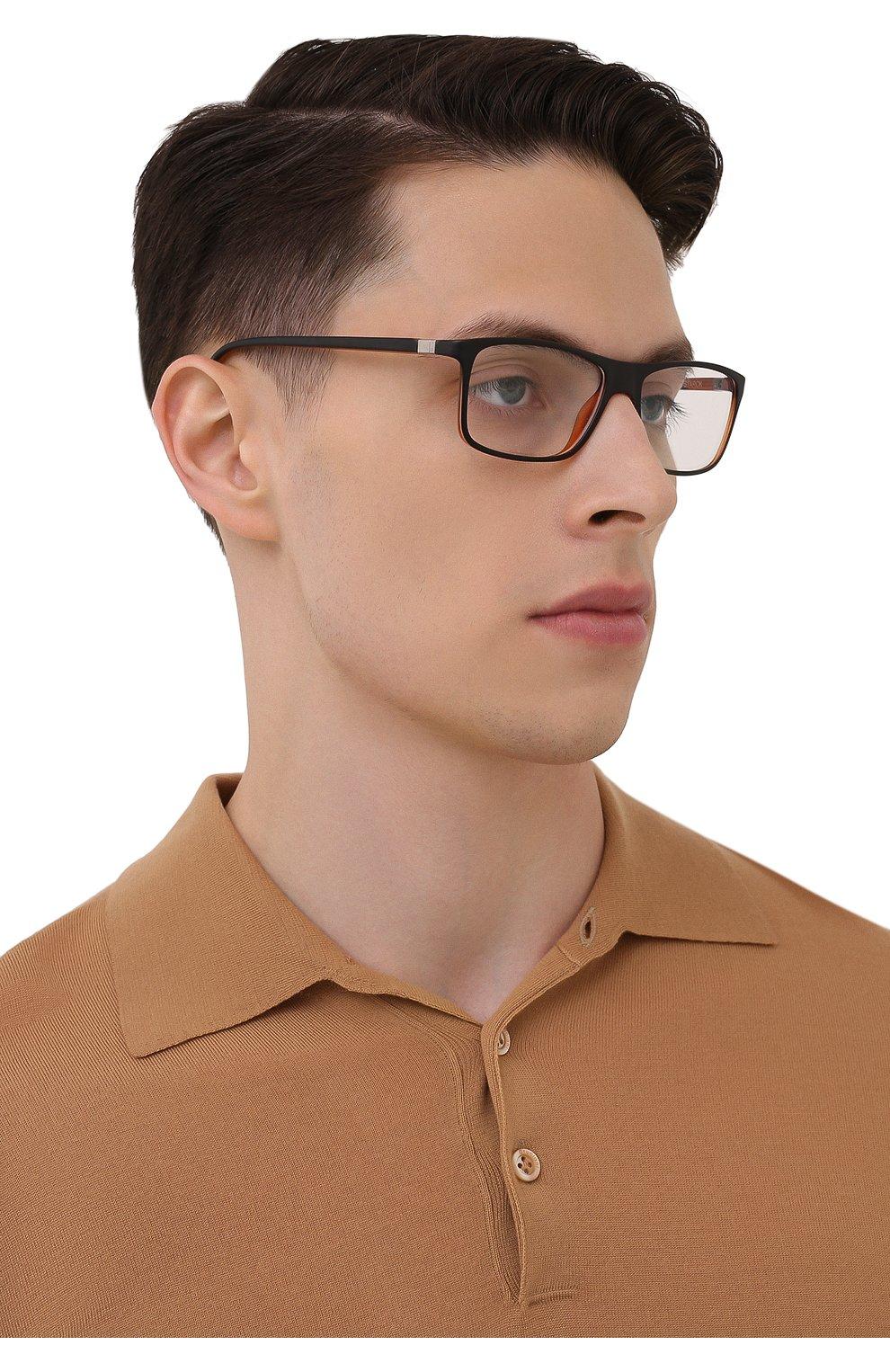 Мужские оправа STARCK EYES черного цвета, арт. 1365X-0033   Фото 2 (Тип очков: Оправа; Очки форма: Прямоугольные; Оптика Гендер: оптика-мужское)