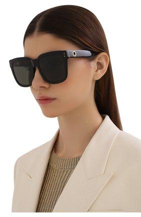 Женские солнцезащитные очки LINDA FARROW черного цвета, арт. LFL1175C1 SUN   Фото 2