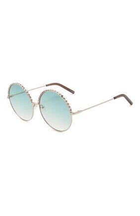 Женские солнцезащитные очки MATTHEW WILLIAMSON голубого цвета, арт. MW274C5 SUN | Фото 1