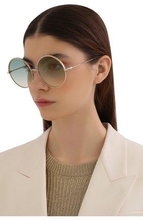 Женские солнцезащитные очки MATTHEW WILLIAMSON голубого цвета, арт. MW274C5 SUN | Фото 2