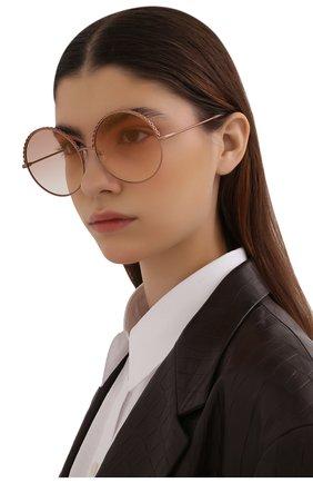 Женские солнцезащитные очки MATTHEW WILLIAMSON розового цвета, арт. MW274C6 SUN | Фото 2