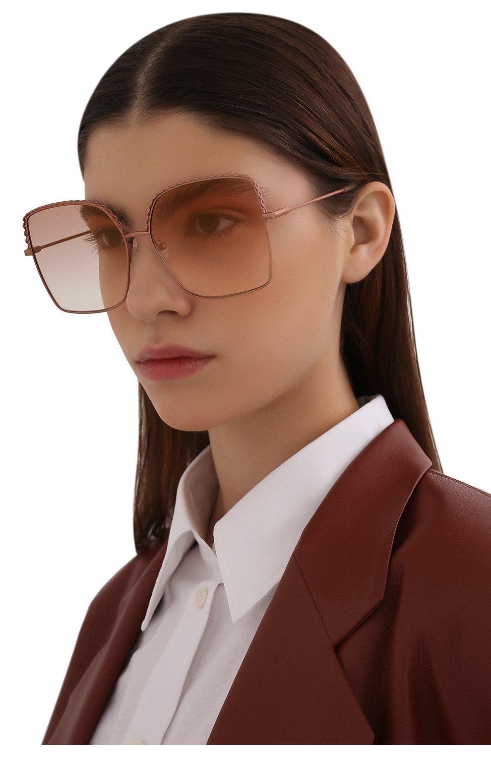 Женские солнцезащитные очки MATTHEW WILLIAMSON розового цвета, арт. MW276C6 SUN   Фото 2 (Тип очков: С/з; Оптика Гендер: оптика-женское; Очки форма: Бабочка)