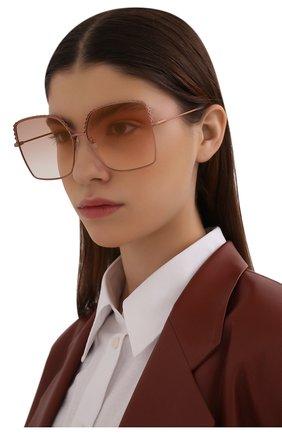 Женские солнцезащитные очки MATTHEW WILLIAMSON розового цвета, арт. MW276C6 SUN | Фото 2