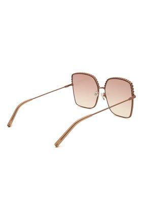 Женские солнцезащитные очки MATTHEW WILLIAMSON розового цвета, арт. MW276C6 SUN   Фото 4 (Тип очков: С/з; Оптика Гендер: оптика-женское; Очки форма: Бабочка)