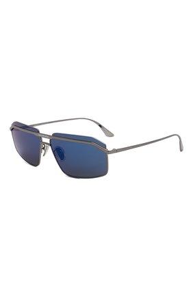 Мужские солнцезащитные очки BALENCIAGA серебряного цвета, арт. BB0139S 002 | Фото 1 (Тип очков: С/з; Очки форма: Прямоугольные; Оптика Гендер: оптика-мужское)