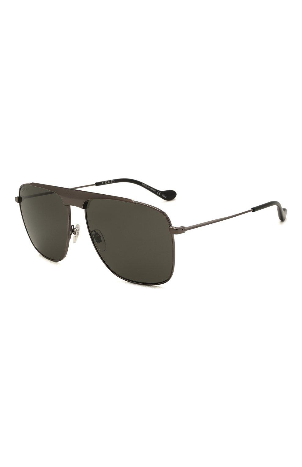 Мужские солнцезащитные очки GUCCI серого цвета, арт. GG0909S 001 | Фото 1 (Тип очков: С/з; Очки форма: Прямоугольные; Оптика Гендер: оптика-мужское)