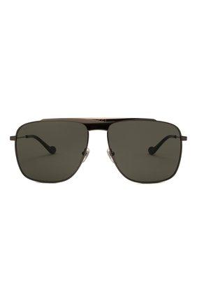 Мужские солнцезащитные очки GUCCI серого цвета, арт. GG0909S 001 | Фото 3 (Тип очков: С/з; Очки форма: Прямоугольные; Оптика Гендер: оптика-мужское)