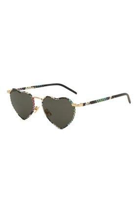 Женские солнцезащитные очки SAINT LAURENT разноцветного цвета, арт. SL 301 L0UL0U 010   Фото 1 (Тип очков: С/з; Очки форма: Креативные; Оптика Гендер: оптика-женское)