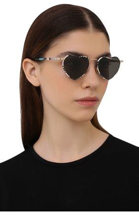Женские солнцезащитные очки SAINT LAURENT разноцветного цвета, арт. SL 301 L0UL0U 010   Фото 2 (Тип очков: С/з; Очки форма: Креативные; Оптика Гендер: оптика-женское)