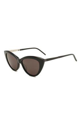 Женские солнцезащитные очки SAINT LAURENT черного цвета, арт. SL M81 001 | Фото 1