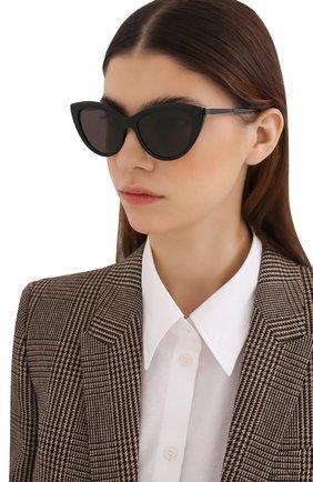 Женские солнцезащитные очки SAINT LAURENT черного цвета, арт. SL M81 001 | Фото 2