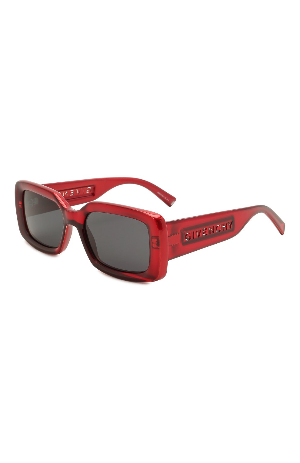 Женские солнцезащитные очки GIVENCHY красного цвета, арт. 7201 C9A | Фото 1