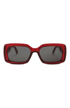 Женские солнцезащитные очки GIVENCHY красного цвета, арт. 7201 C9A | Фото 3