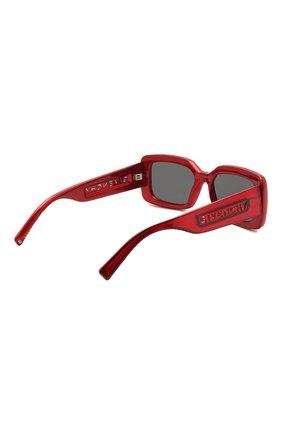 Женские солнцезащитные очки GIVENCHY красного цвета, арт. 7201 C9A | Фото 4