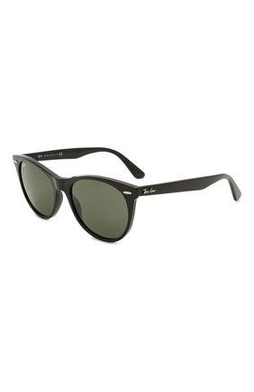 Женские солнцезащитные очки RAY-BAN черного цвета, арт. 2185-901/31 | Фото 1