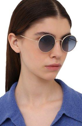 Женские солнцезащитные очки OLIVER PEOPLES золотого цвета, арт. 1197ST-5035Q8 | Фото 2