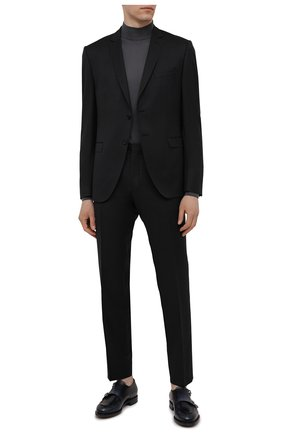 Мужской шерстяной костюм BOSS темно-серого цвета, арт. 50453652 | Фото 1