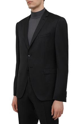 Мужской шерстяной костюм BOSS темно-серого цвета, арт. 50453652 | Фото 2