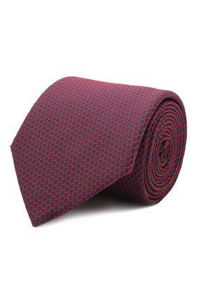 Мужской шелковый галстук BOSS красного цвета, арт. 50455243 | Фото 1