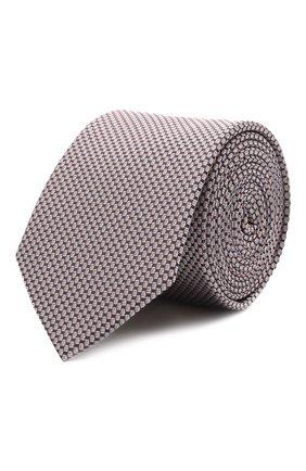 Мужской шелковый галстук HUGO розового цвета, арт. 50454872 | Фото 1