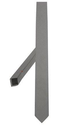 Мужской шелковый галстук HUGO серого цвета, арт. 50454872   Фото 2 (Материал: Текстиль, Шелк; Принт: С принтом)