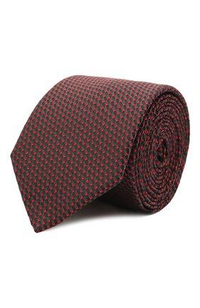 Мужской шелковый галстук HUGO красного цвета, арт. 50454882 | Фото 1