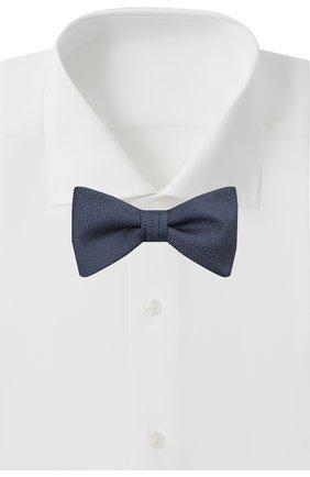 Мужской шелковый галстук-бабочка HUGO темно-синего цвета, арт. 50454869 | Фото 2