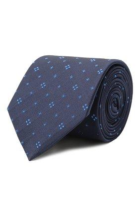 Мужской шелковый галстук HUGO темно-синего цвета, арт. 50454876 | Фото 1