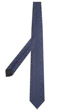 Мужской шелковый галстук HUGO темно-синего цвета, арт. 50454876 | Фото 2