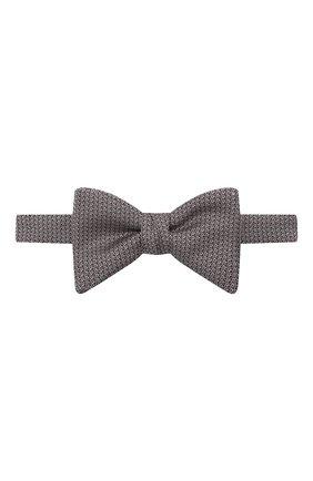 Мужской шелковый галстук-бабочка HUGO светло-розового цвета, арт. 50454887 | Фото 1