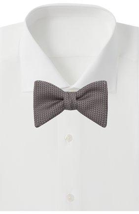 Мужской шелковый галстук-бабочка HUGO светло-розового цвета, арт. 50454887 | Фото 2