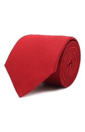 Мужской шелковый галстук HUGO красного цвета, арт. 50452007 | Фото 1