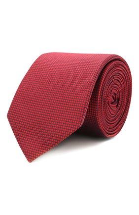Мужской шелковый галстук HUGO красного цвета, арт. 50455278 | Фото 1