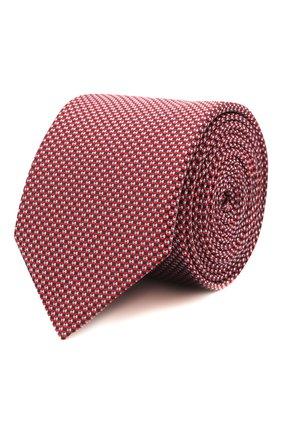 Мужской шелковый галстук HUGO красного цвета, арт. 50454872 | Фото 1