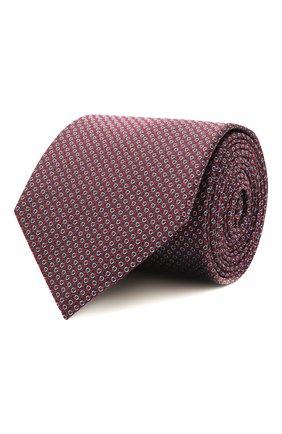 Мужской шелковый галстук HUGO красного цвета, арт. 50454892 | Фото 1