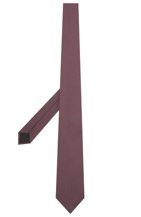 Мужской шелковый галстук HUGO красного цвета, арт. 50454892 | Фото 2