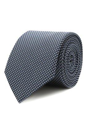Мужской шелковый галстук HUGO темно-синего цвета, арт. 50454872 | Фото 1