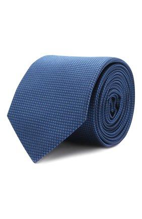 Мужской шелковый галстук HUGO синего цвета, арт. 50455278 | Фото 1