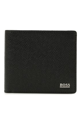 Мужской кожаное портмоне BOSS черного цвета, арт. 50452084   Фото 1