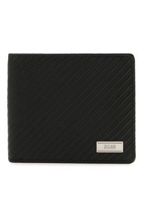 Мужской комплект из портмоне и футляра для кредитных карт BOSS черного цвета, арт. 50322203   Фото 2